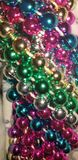 Pretty multicolor beads royalty free stock photo