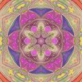 Pretty multicolor floral sun triangle mandala. Multicolor floral sun triangle mandala Stock Photography