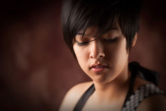 Pretty Multiethnic Young Adult Woman Portrait stock photo