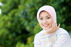 Pretty muslim girl Royalty Free Stock Photos