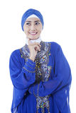 Pretty muslim woman wearing scarf smiling Royalty Free Stock Image