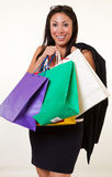 Pretty native american business woman Stock Photography