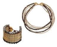 Pretty necklace and bracelet Stock Photos