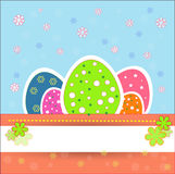Pretty and  nice easter eggs Royalty Free Stock Image