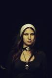 Pretty nun Stock Image