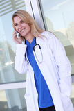 Pretty Nurse at Hospital Stock Images