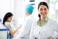 Assistant of dentist Stock Photos
