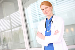 Pretty Nurse with Stethoscope Stock Image