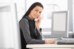 Pretty office girl Stock Images