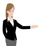 Pretty Office lady Royalty Free Stock Images