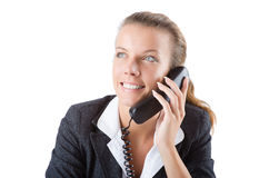 Pretty office manager speaking on the phone Royalty Free Stock Image