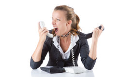 Pretty office manager speaking on the phone Royalty Free Stock Images