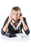 Pretty office manager speaking on the phone Stock Photography