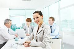 Pretty office worker Royalty Free Stock Photo