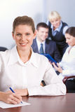 Pretty office worker Stock Image