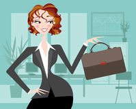 Female Executive with Office Background Royalty Free Stock Photography