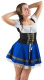Pretty oktoberfest girl smiling Stock Images