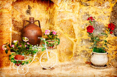 Pretty Old Courtyard Royalty Free Stock Photo