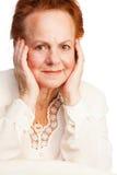 Pretty old lady Stock Photo