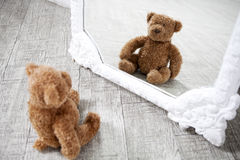 Pretty old vintage  Teddy Bear toy Stock Photography