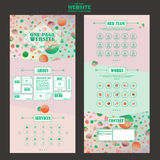 Pretty one page website template design Stock Photos