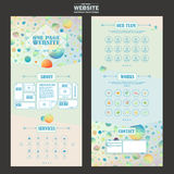 Pretty one page website template design Stock Photo