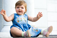 Pretty one year baby Royalty Free Stock Images