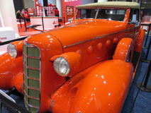 Pretty Orange LaSalle Series 50 Convertible Coupe Royalty Free Stock Photography