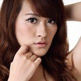 Pretty oriental woman royalty free stock photography