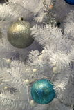 Pretty ornaments on branches of tree Stock Photography