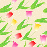 Pretty painted flowers seamless background Royalty Free Stock Photography