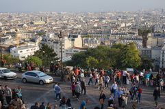 Pretty Paris Skyline Royalty Free Stock Photography