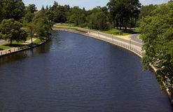 Pretty Parkland And Canal Stock Photography