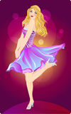 Pretty party girl illustration Royalty Free Stock Photo