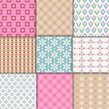 Pretty pastel patterns Royalty Free Stock Images
