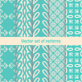 Pretty pastel vector seamless patterns Royalty Free Stock Photography