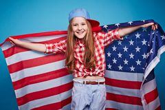 Pretty patriot Royalty Free Stock Photography