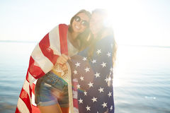 Pretty patriots Stock Photos