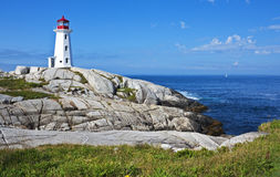 Pretty Peggys Cove lighthouse, Nova Scotia Stock Image