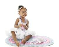 Pretty Petticoat Baby Stock Photo