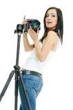 Pretty Photographer Royalty Free Stock Photos