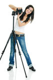 Pretty photographer Stock Images
