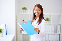Pretty physician woman Stock Photo