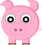 Pretty pig - vector Stock Images