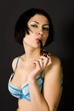 Pretty pin-up girl Royalty Free Stock Image