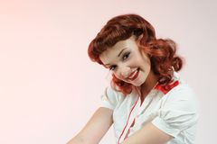 A pretty pin up girl Royalty Free Stock Image