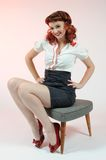 A pretty pin up girl Stock Photography
