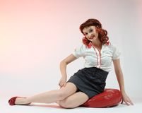 A pretty pin up girl Stock Photos