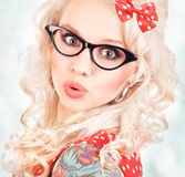 Pretty pin up girl Royalty Free Stock Images