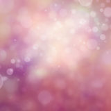 Pretty pink background with white bokeh lights in soft romantic design Stock Image